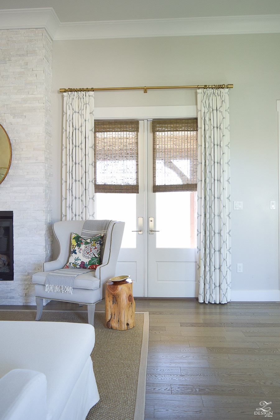 Custom Drapes in Riad in Pearl Silver (Z Design At Home)