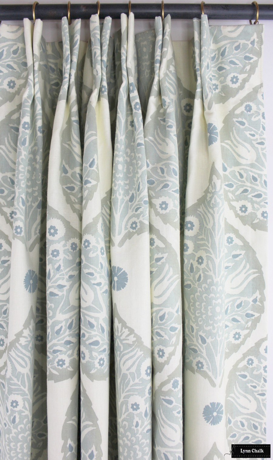 Galbraith & Paul Lotus Drapes (Shown in Mineral on Cream-comes in many colors ...