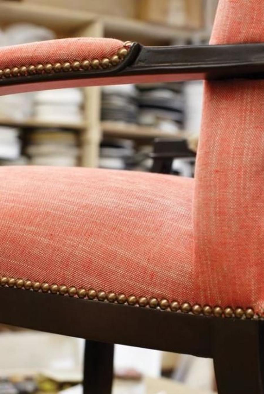 Chair in Linen Canvas Fireside