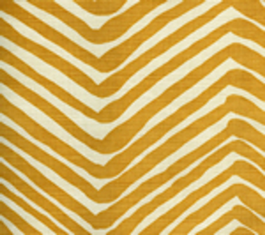 Quadrille Alan Campbell Zig Zag Inca Gold on Tint AC302-13