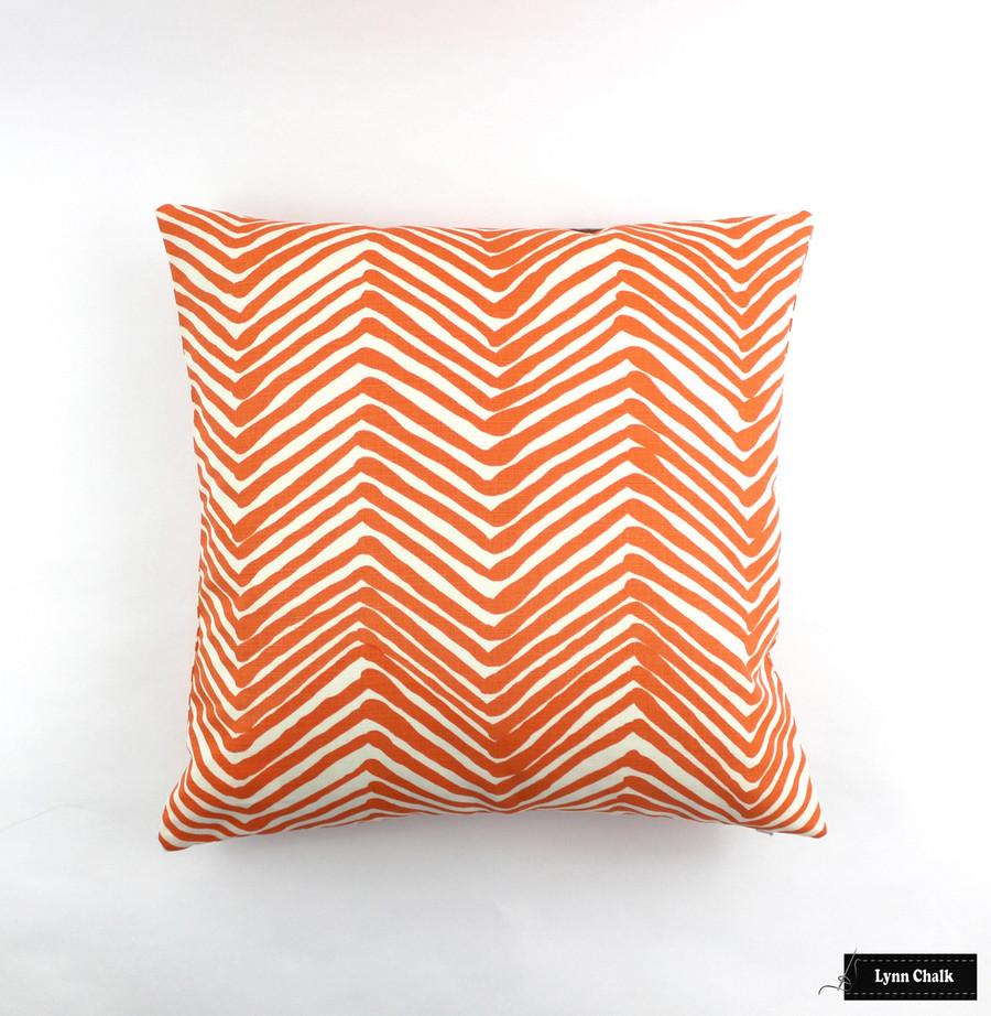 Pillow in Zig Zag Orange on Tint (22 X 22)