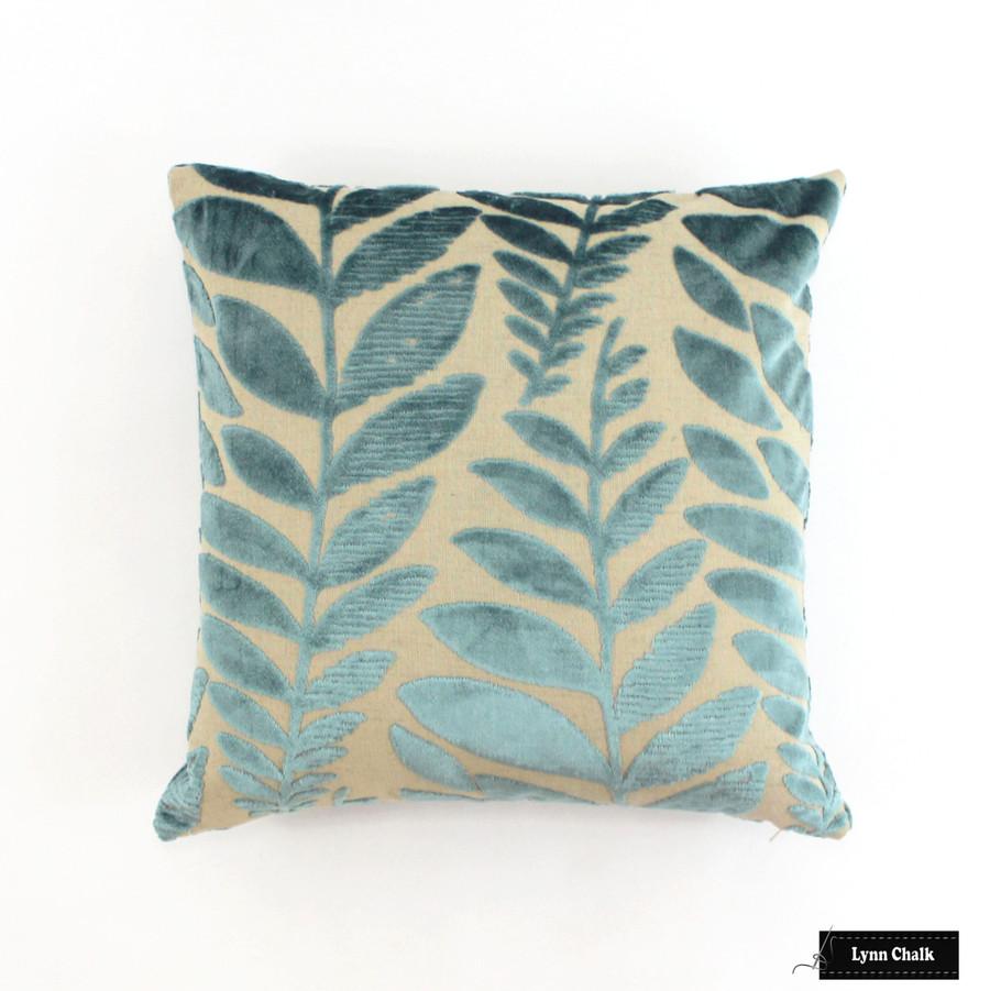 Pillow in Foglia Azure (18 X 18)