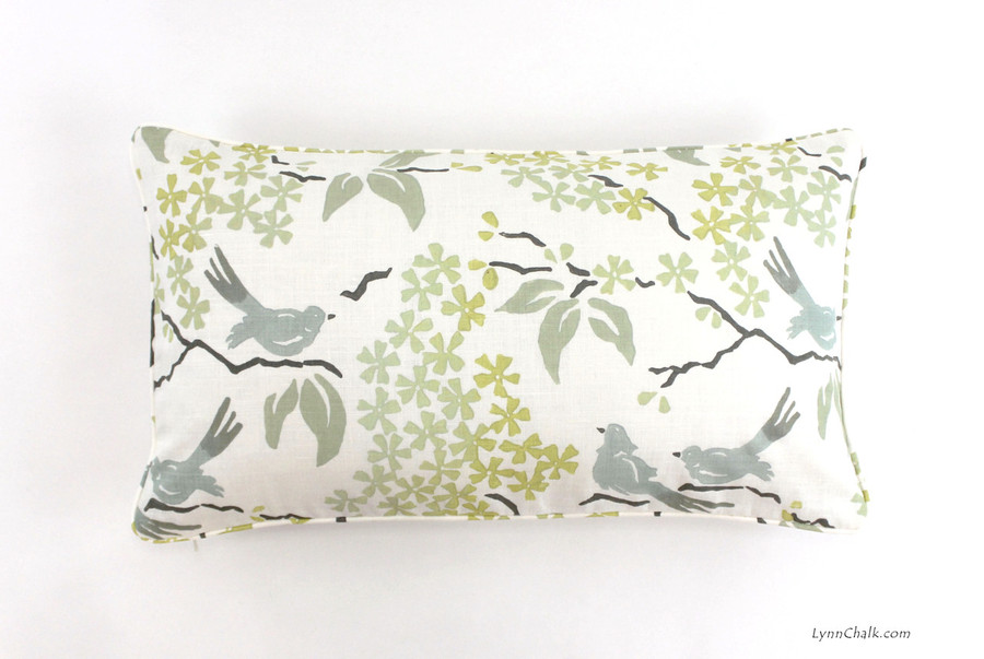 Pillow in Galbraith & Paul Birds in Custom Colors (14 X 24)