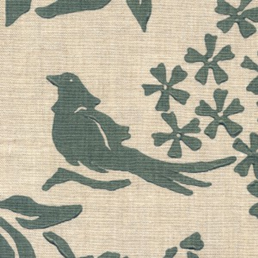Birds Silhouette  Ocean on Natural Linen