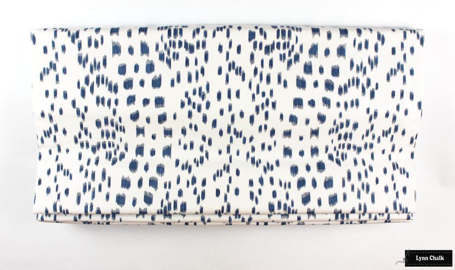 Brunschwig & Fils/Lee Jofa Les Touches Pillows in Blue with Contrasting Navy Welting  - 2 Pillow Minimum Order