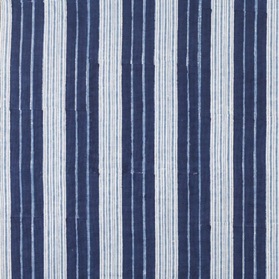John Robshaw Vintage Stripe Cushion (shown in Indigo-also comes in Coral)