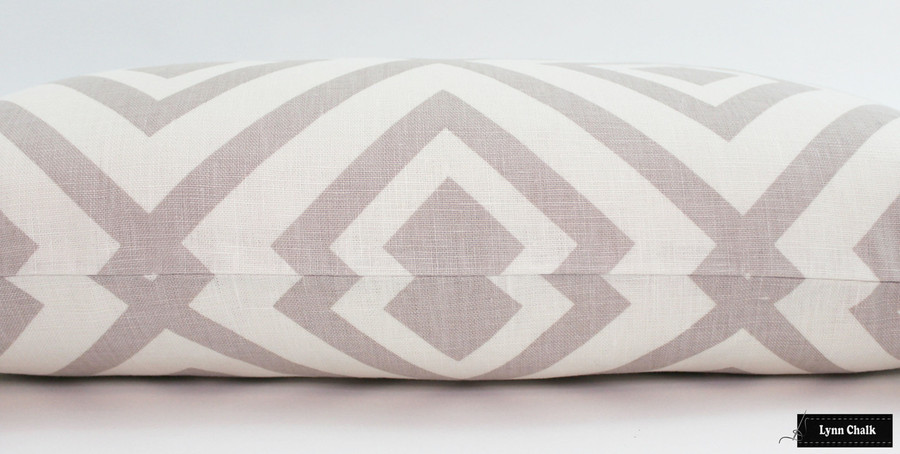 "ON SALE 60% Off-David Hicks La Fiorentina Pillow in Grey -(Both Sides-14"" X 24"" ) This color is being discontinued"