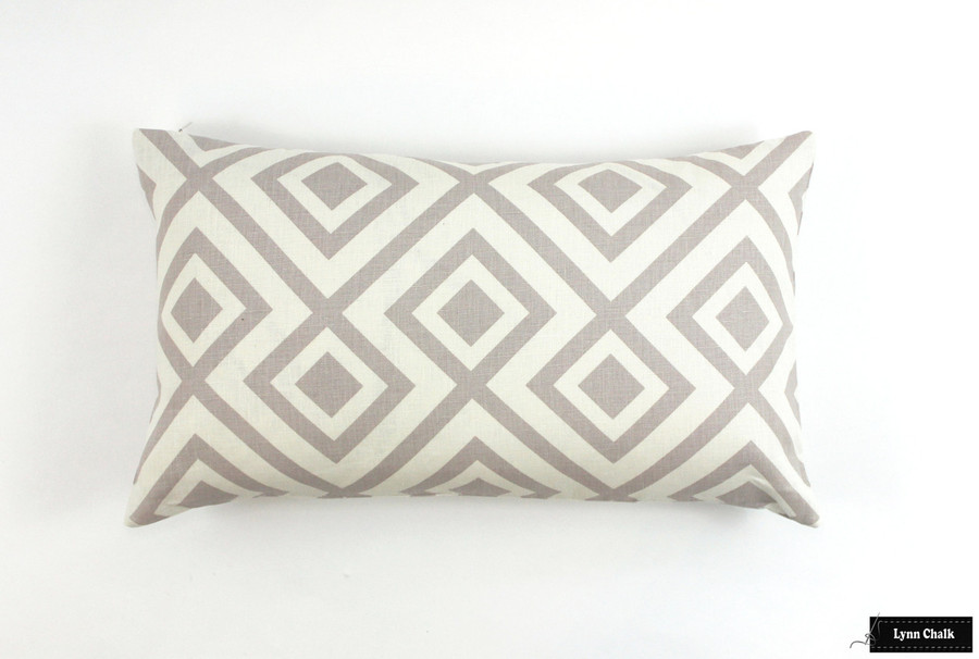 """ON SALE 60% Off-David Hicks/Lee Jofa La Fiorentina Pillow in Grey -(Both Sides-14"""" X 24"""" ) This color is being discontinued"""
