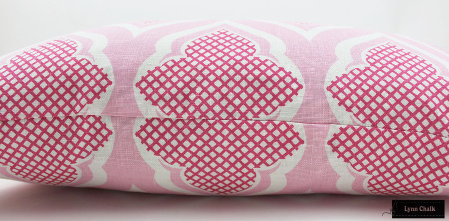 Christopher Farr Custom Pillows in Venecia Hot Pink (Both Sides) 2 Pillow Minimum Order
