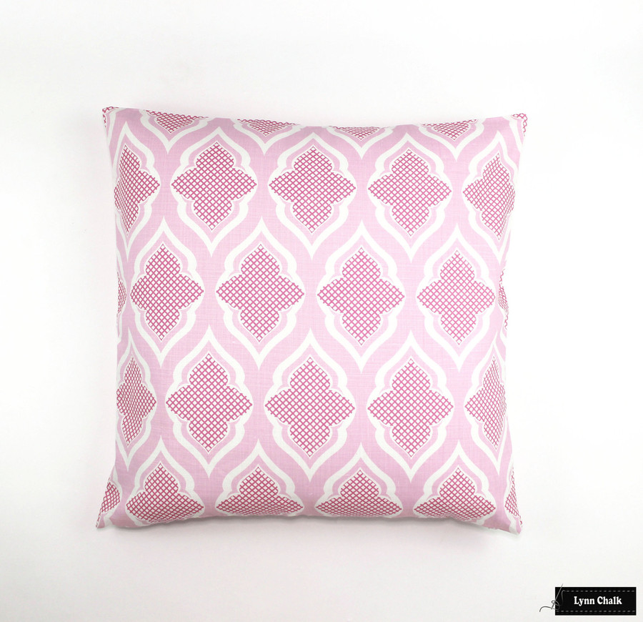 Knife Edge Pillow in Venecia Hot Pink (24 X 24)