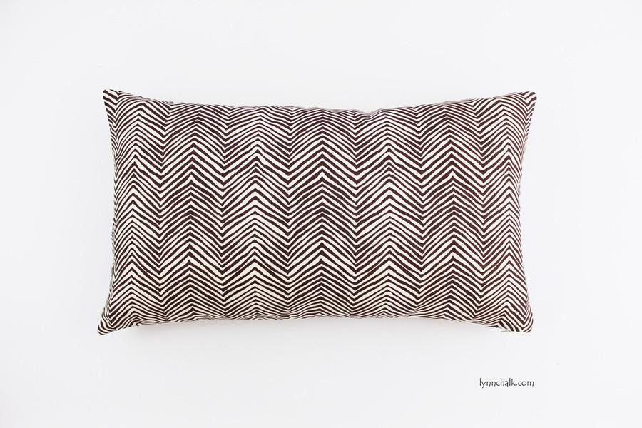Custom 12 X 20 Pillow in Petite Zig Zag in Brown