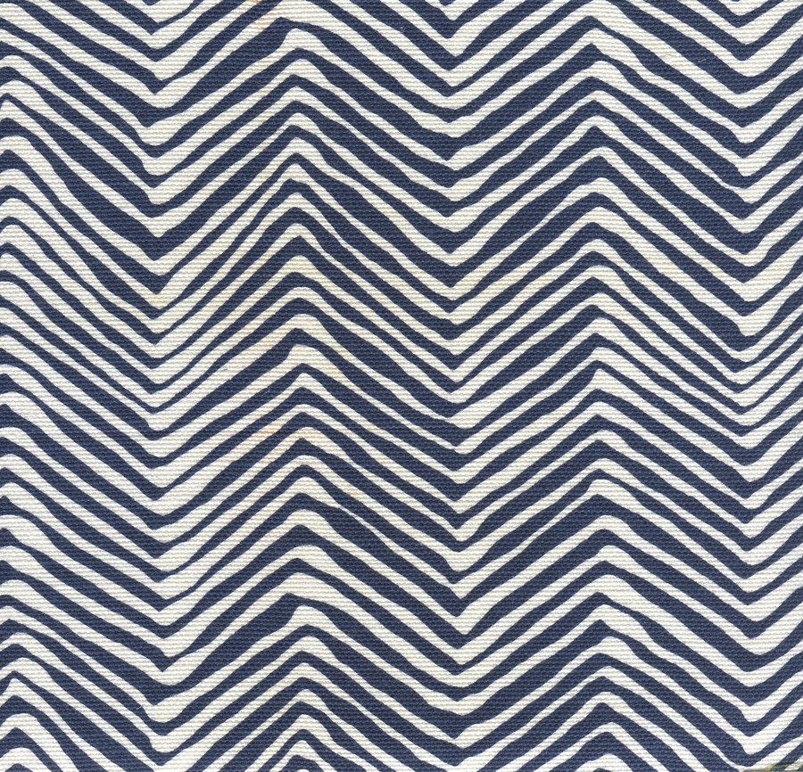 Petite Zig Zag New Navy on White AC303-18W