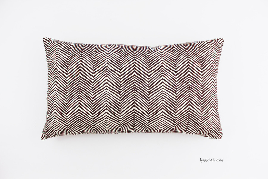 Custom 12 X 20 Pillow in Petite Zig Zag in Brown