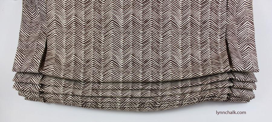 Quadrille Alan Campbell Petite Zig Zag Leaf on Tint AC303-14