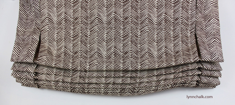 Quadrille Alan Campbell Petite Zig Zag New Brown on Tint AC303-38