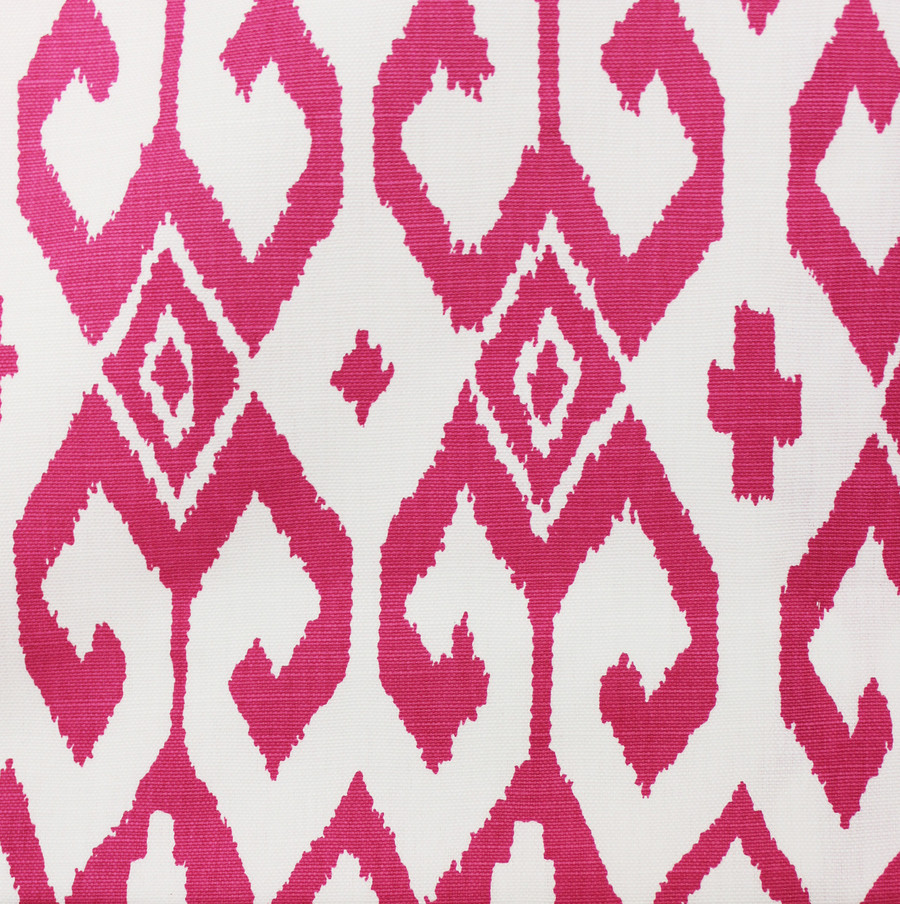 Quadrille Alan Campbell Aqua II Magenta on White 7230-07