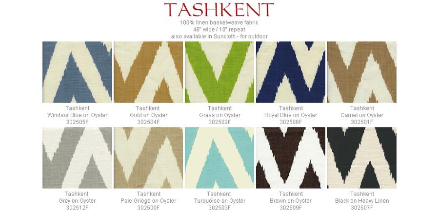 Quadrille Tashkent Turquoise on Oyster