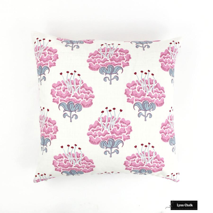 Pillow in Katie Ridder Peony in Raspberry (20 X 20)