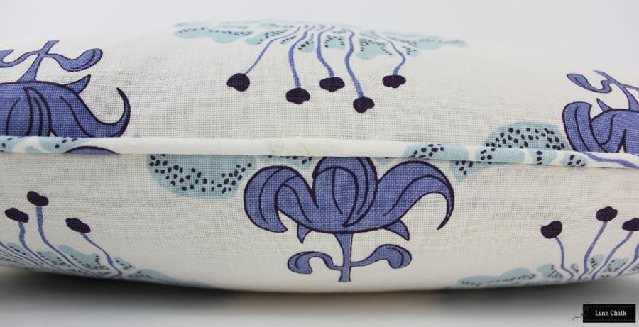 Katie Ridder Peony Blueberry Pillow