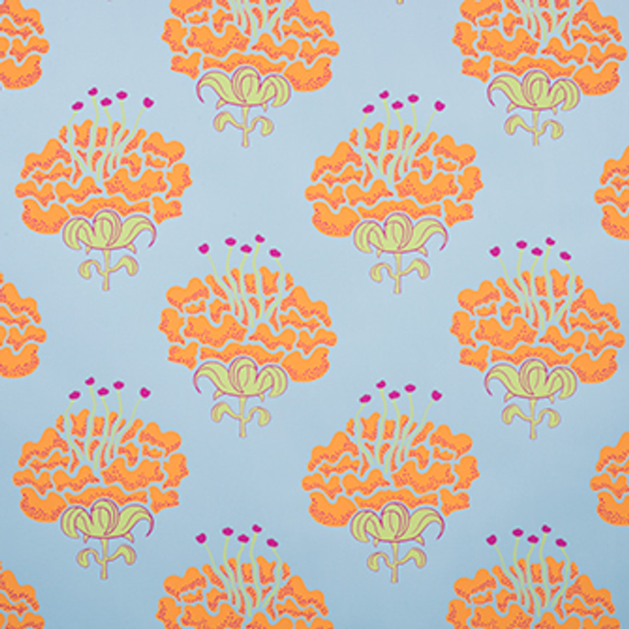 Katie Ridder Peony Wallpaper Orange