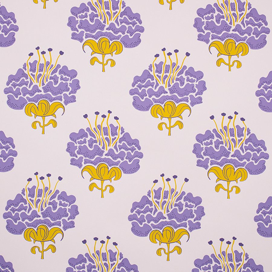 Katie Ridder Peony Wallpaper Purple