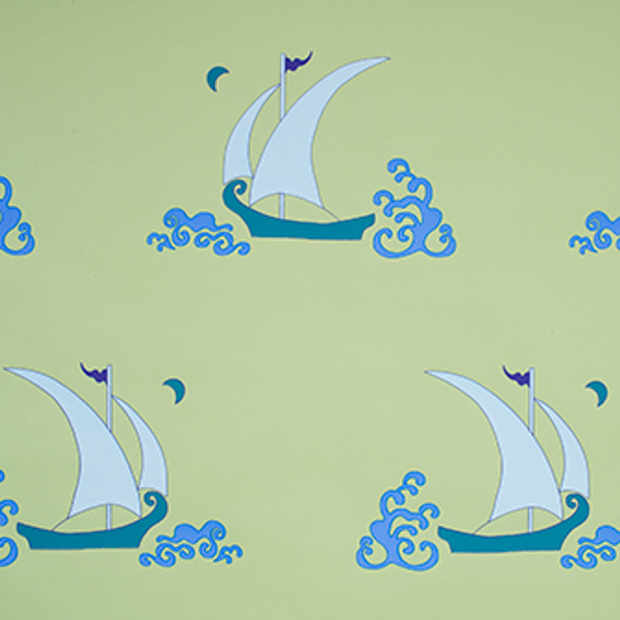 Katie Ridder Beetlecat Wallpaper in Green