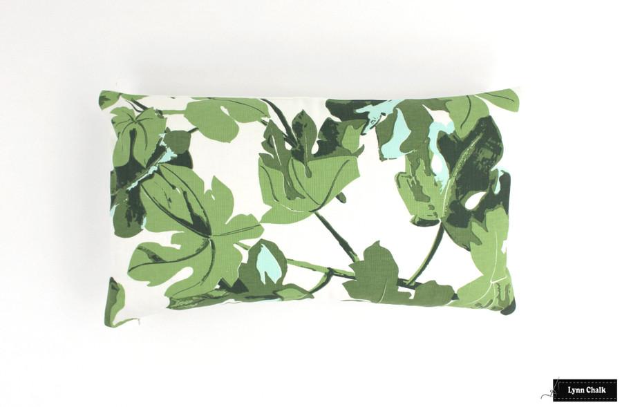 Peter Dunham Fig Leaf on White Custom Drapes in Dining Room