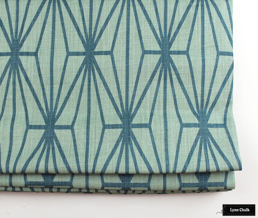 Kelly Wearstler for Lee Jofa Katana Custom Pillows in Jade/Teal (also comes in Ebony/Ivory)