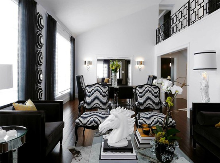 Kelly Wearstler Chairs in Flair Noir