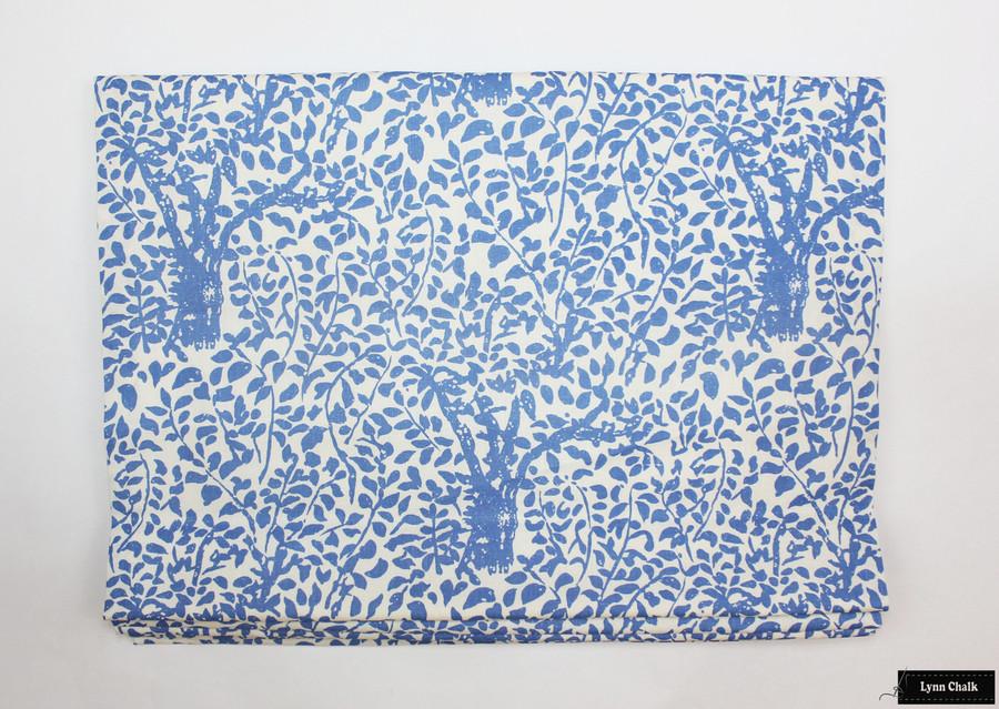 Quadrille Arbre De Matisse -China Blue Roman Shade