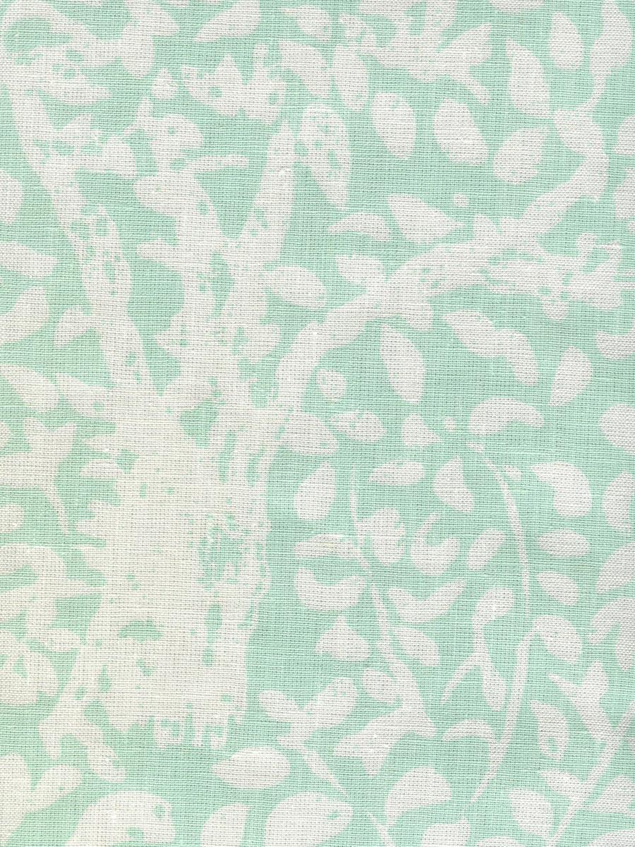 Quadrille Arbre De Matisse Reverse Soft Aqua on White