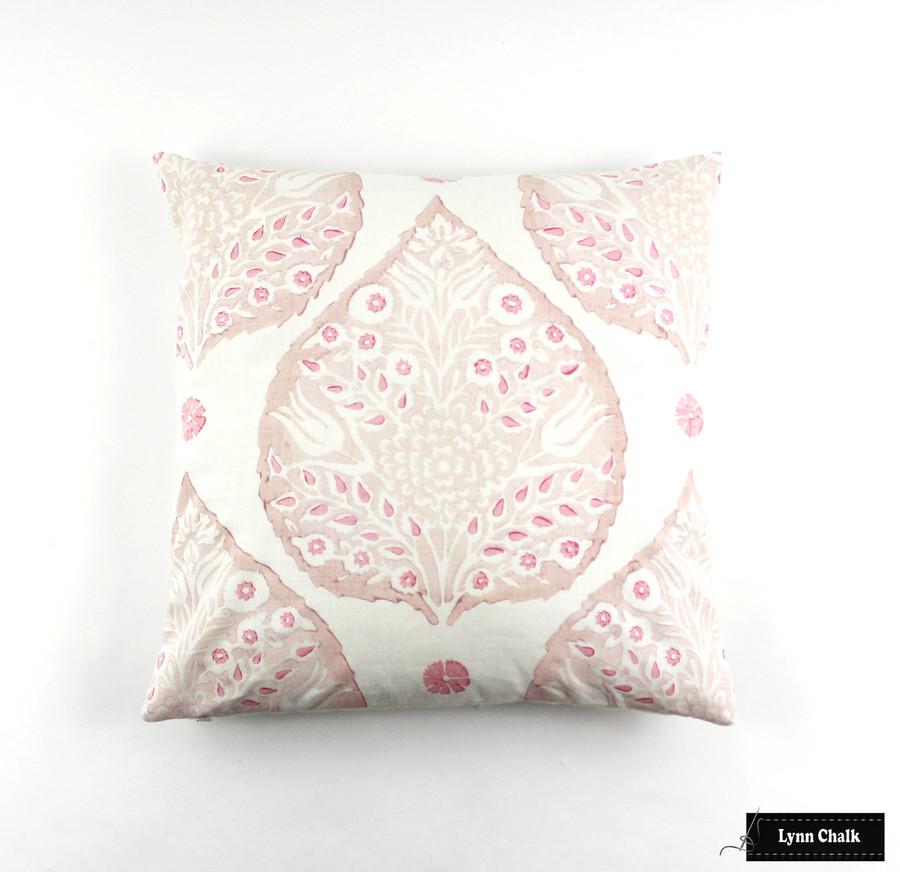Pillow 20 X 20 Lotus Custom Color (Rose Quartz inside lotus, Blossom outside Lotus, Punch small petals)