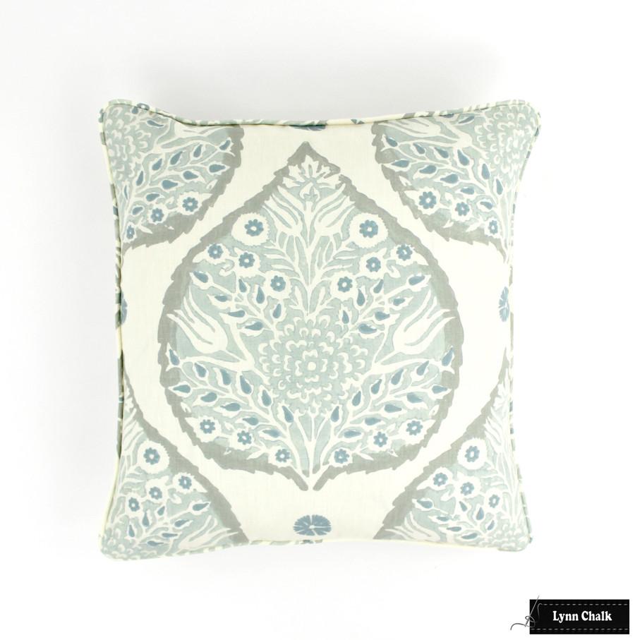 Galbraith & Paul Lotus Mineral on Cream Pillow