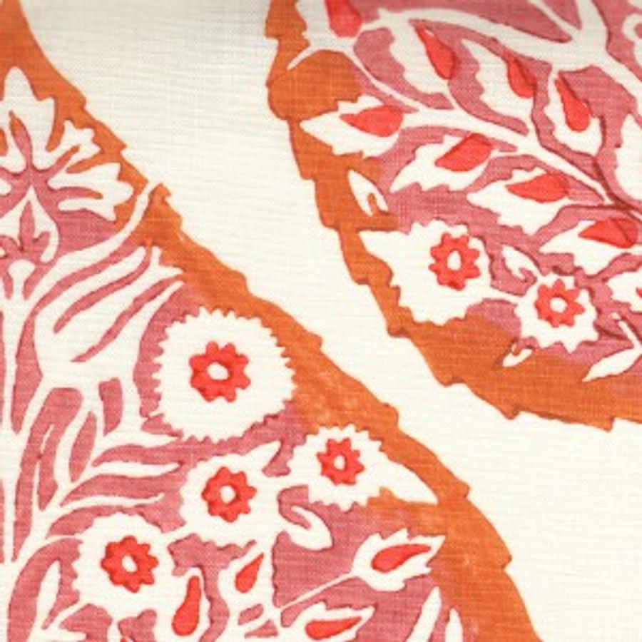 Rhubarb on Logan Cream Linen