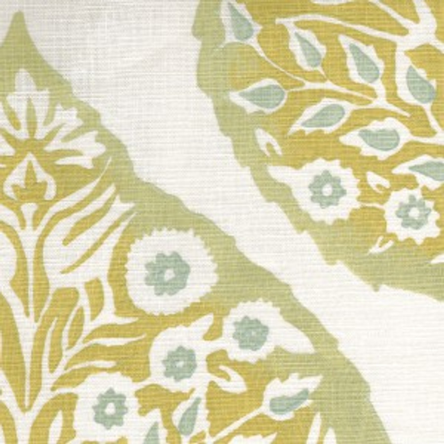 Galbraith & Paul Lotus Custom Roman Shade (shown in Light Cadet on Logan Natural Linen -comes in several colors)