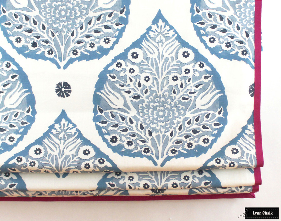Galbraith & Paul Lotus Wallpaper - Shown in Indigo (Wallpaper Sold By The Yard - 5 Yard Minimum Order)