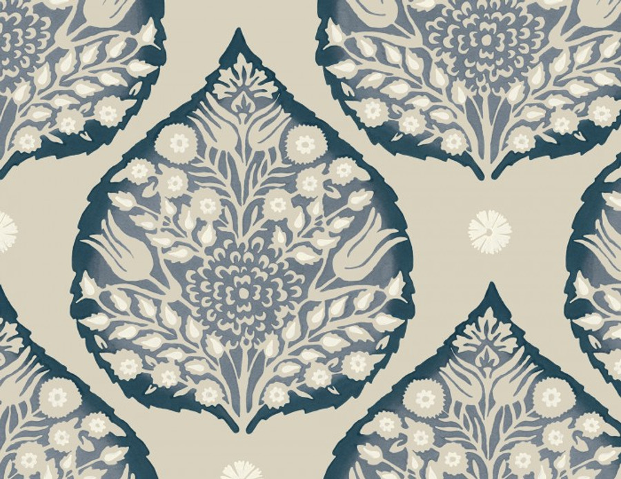 Lotus Wallpaper Indigo