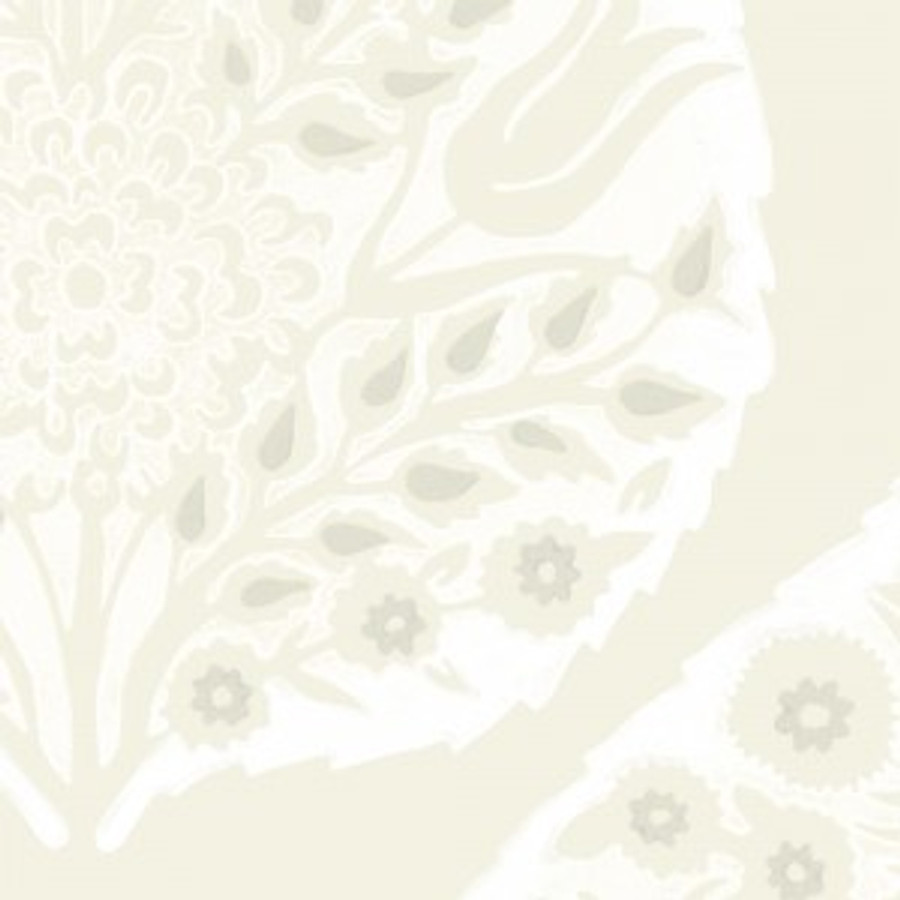 Lotus Wallpaper Bright White