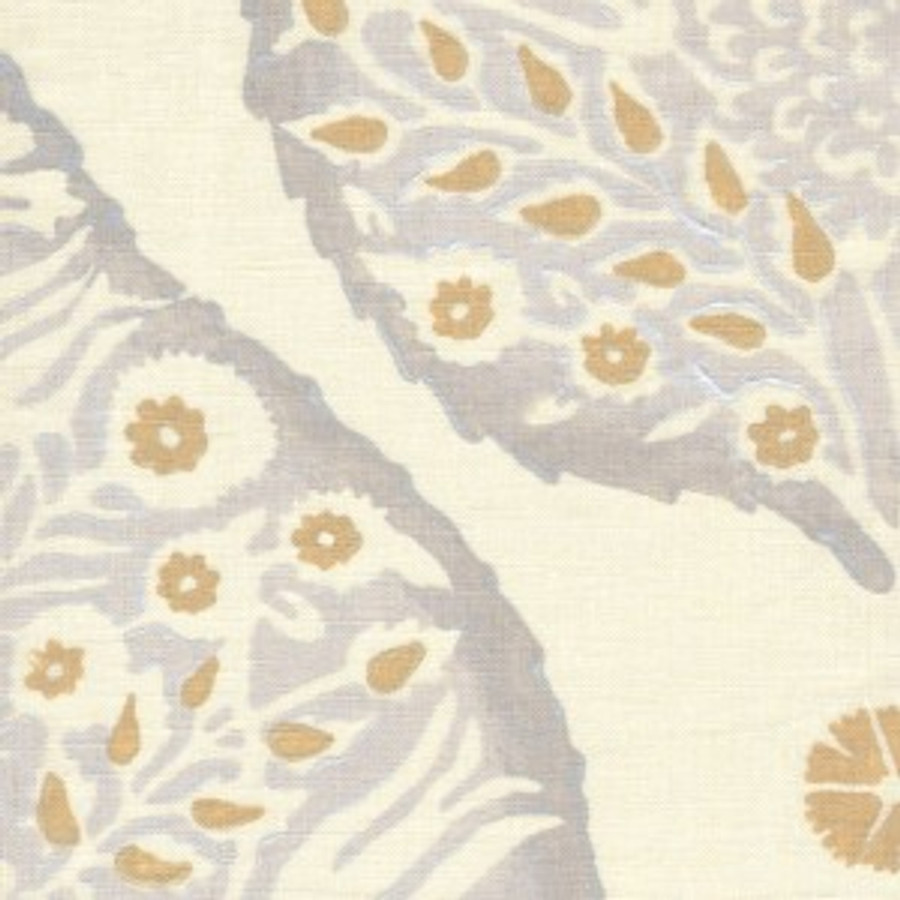 Lotus in Dove Grey on Cream Linen