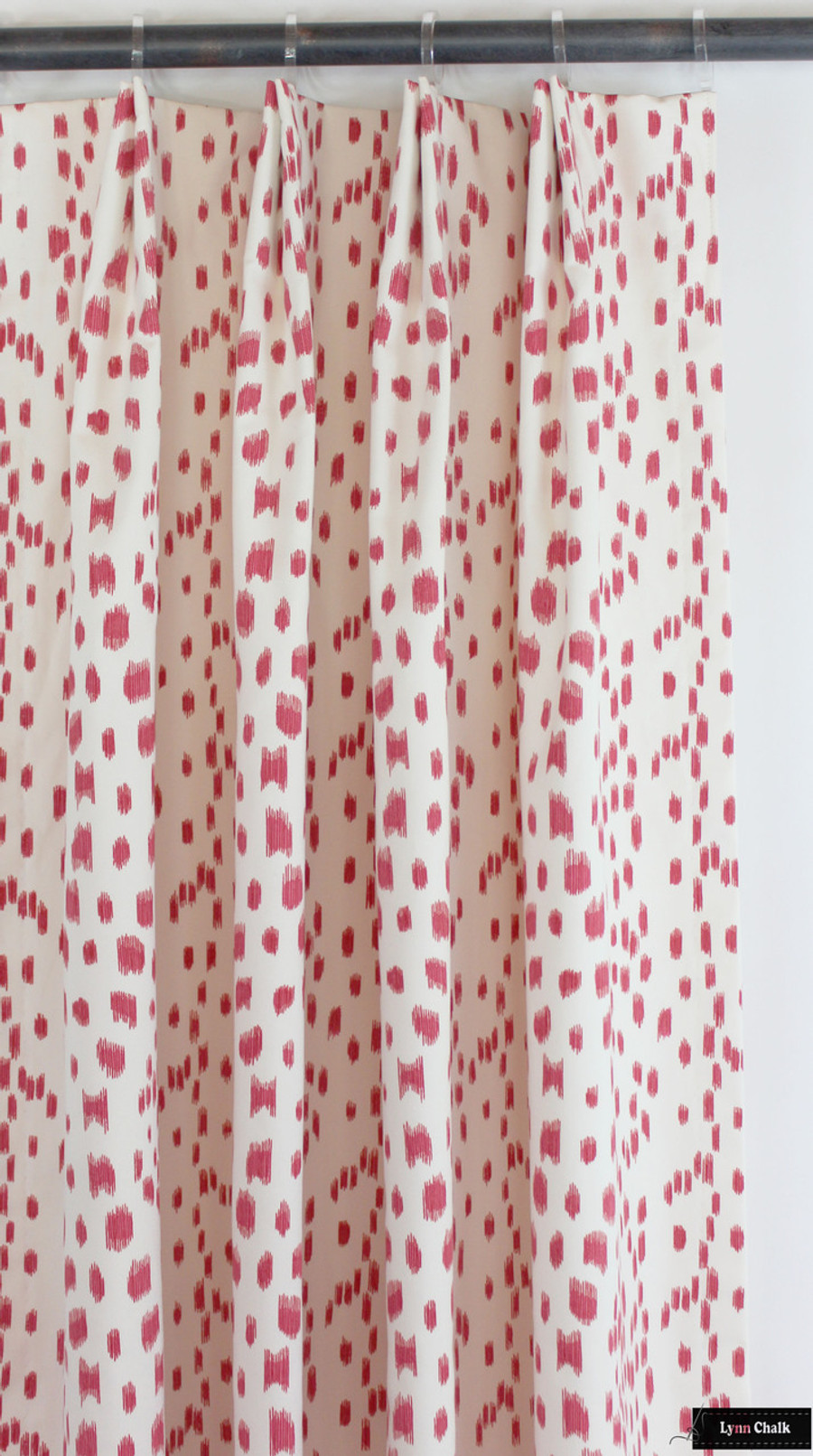 Brunschwig & Fils/Lee Jofa Les Touches Drapes in Pink (comes in 9 colors)