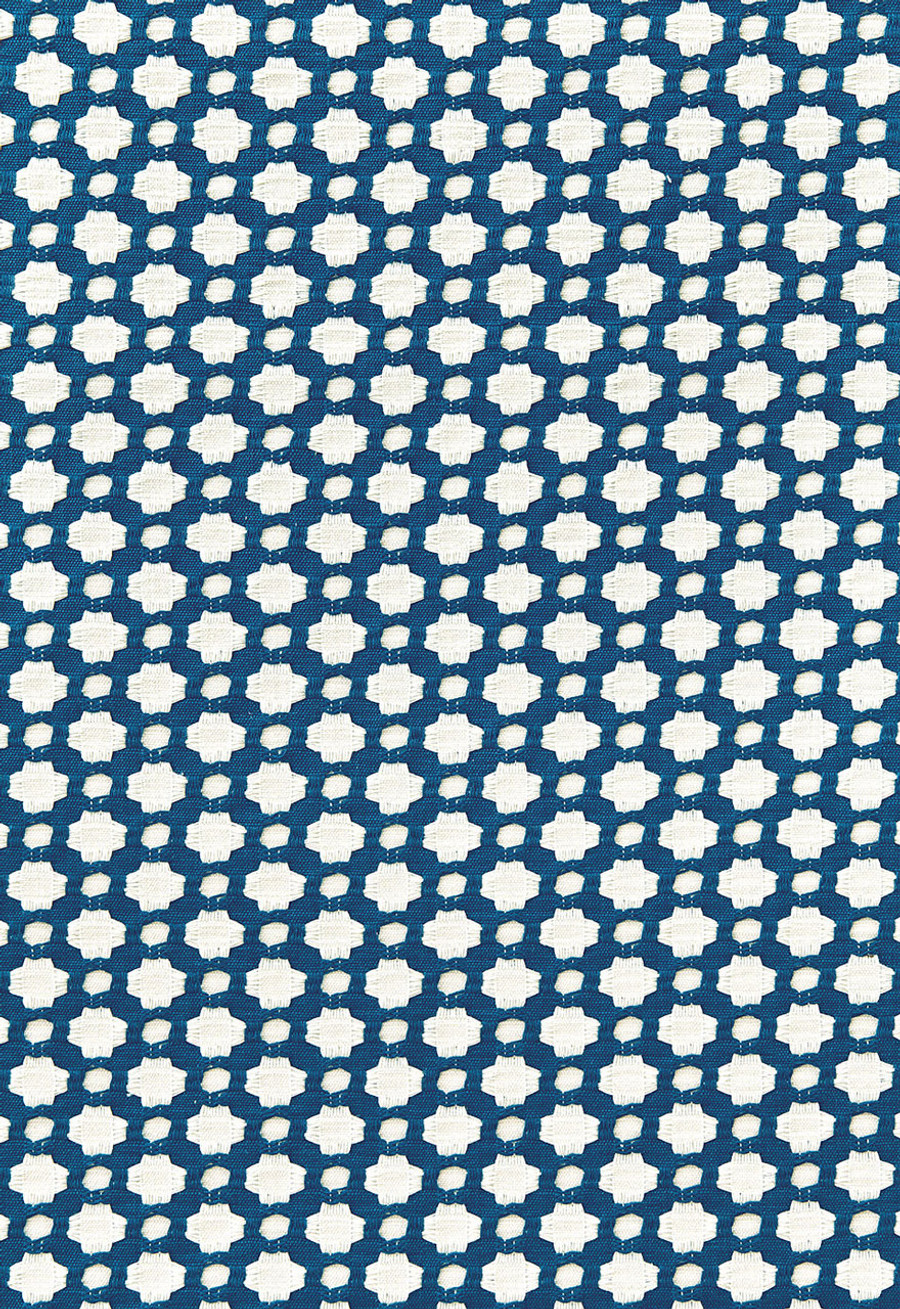Schumacher Celerie Kemble Betwixt 626181 Indigo Ivory