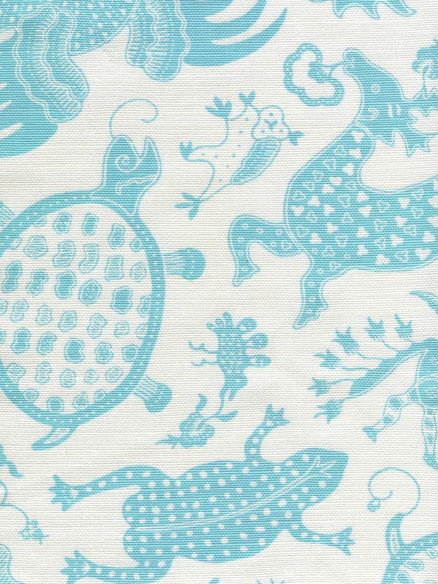 Indramayu Turquoise on White 9005-03