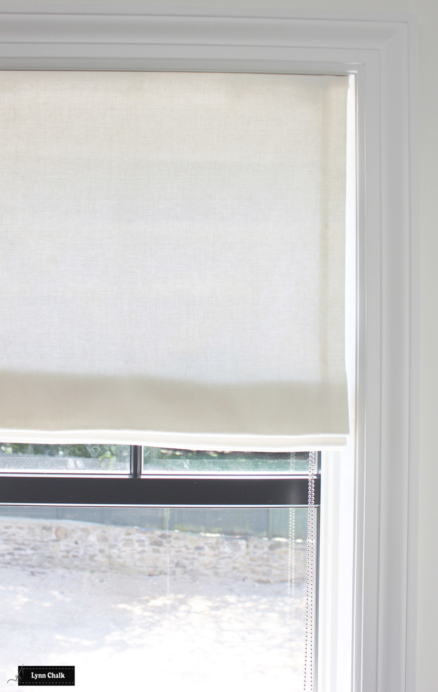 Trend 01838T Oyster Roman Shade in Bedroom