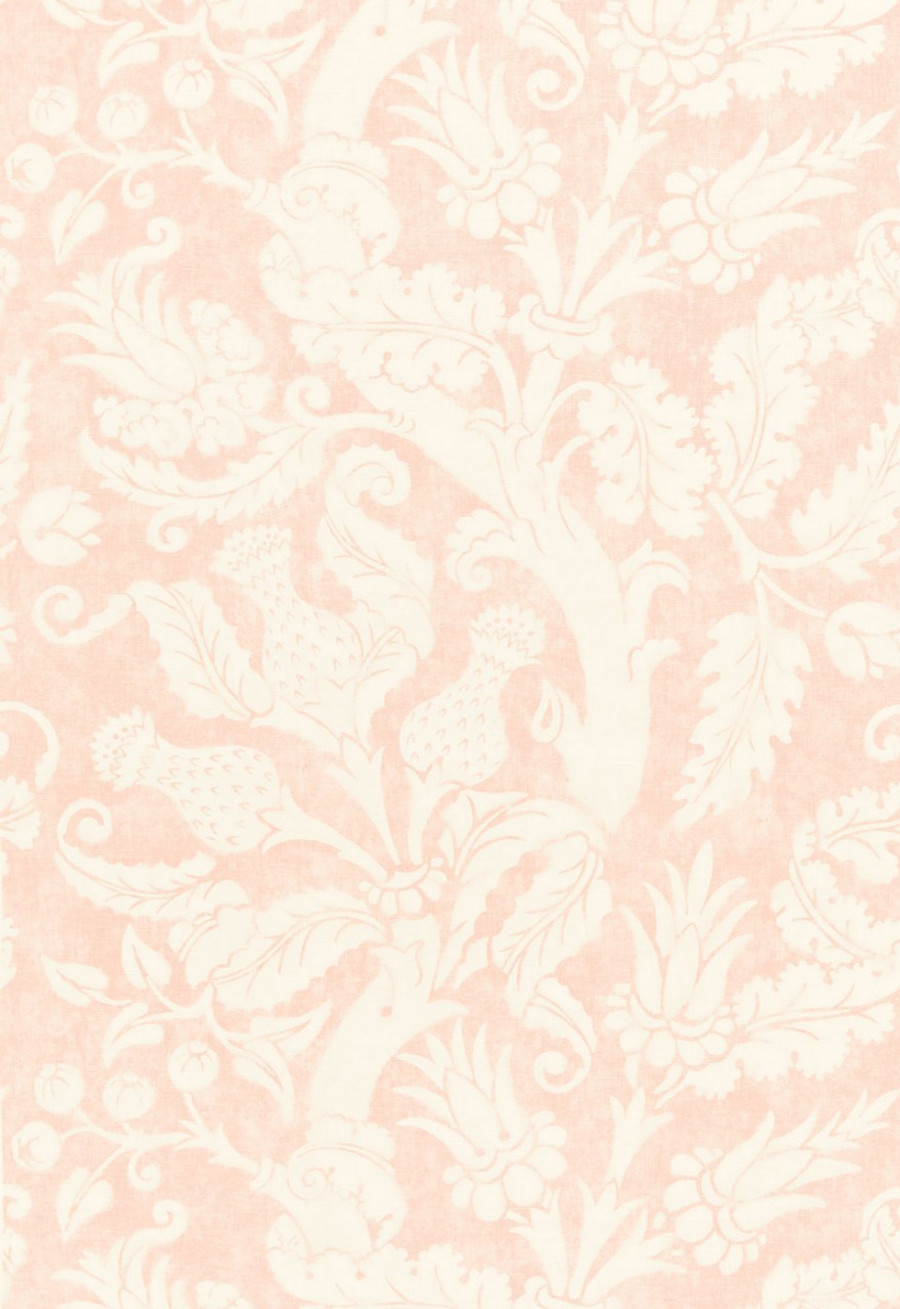 Schumacher Mary McDonald Villa de Medici Drapes (shown in Blush Conch)