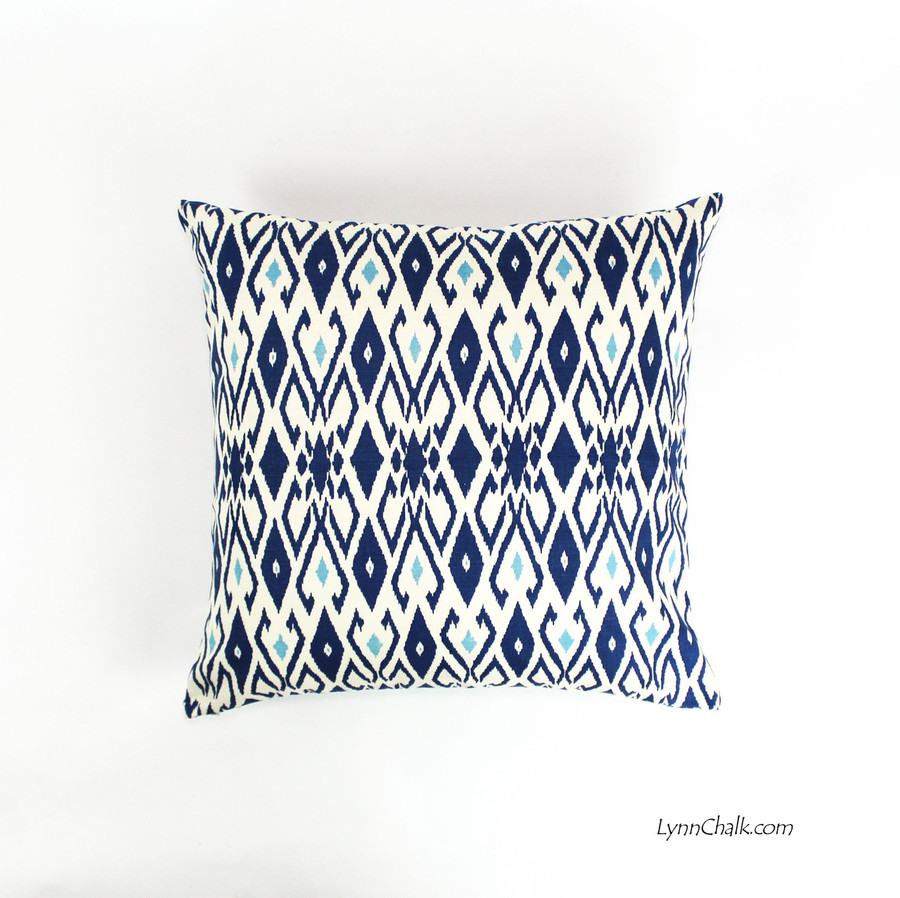 Quadrille Lockan Pillows in Navy/Blue on Tint (22 X 2)