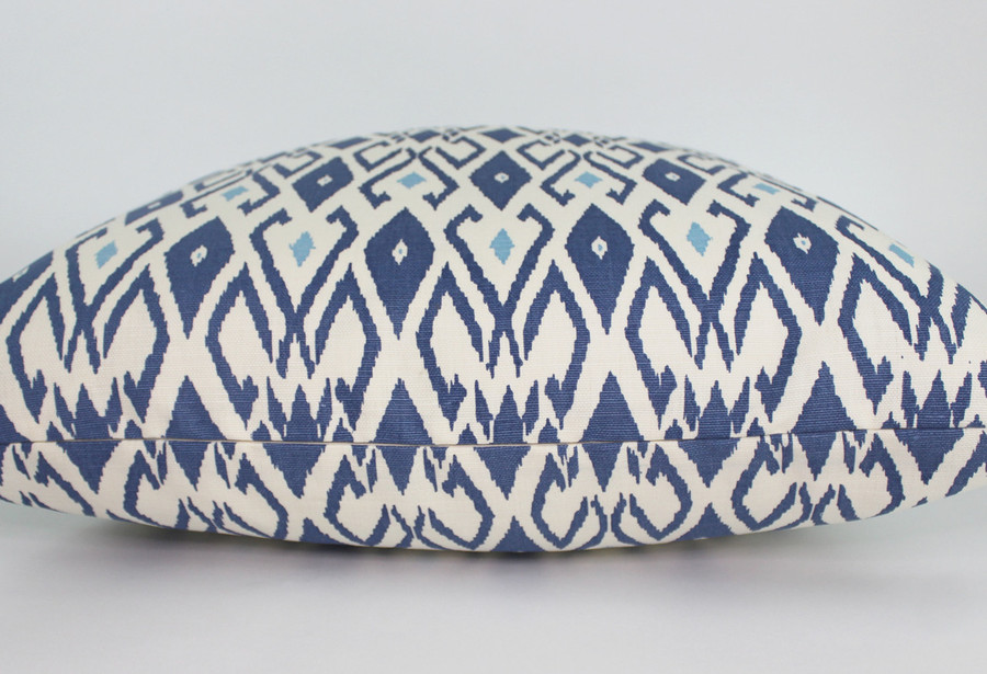 Quadrille China Seas Lockan Pillows (shown in Navy/Blue-comes in several colors)