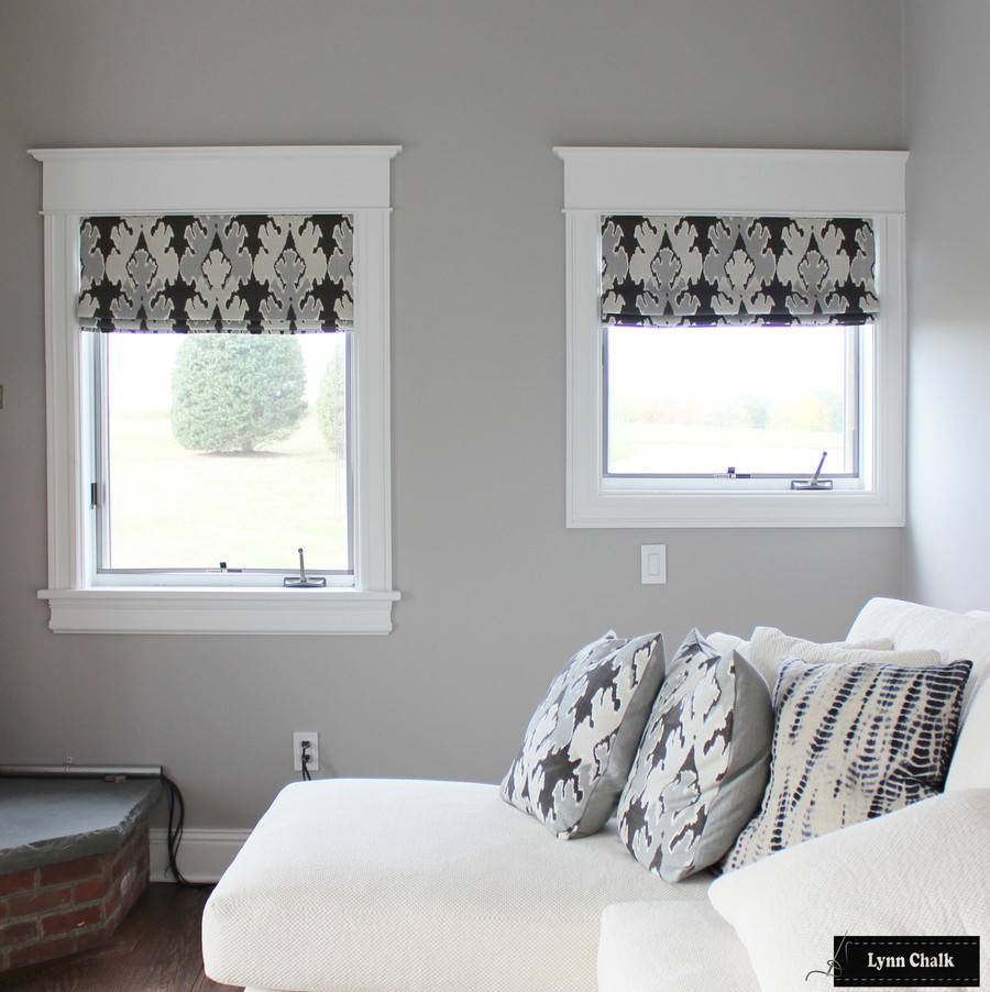 Kelly Wearstler/Lee Jofa Bengal Bazaar Custom Roman Shades (shown in Graphite-comes in other colors)