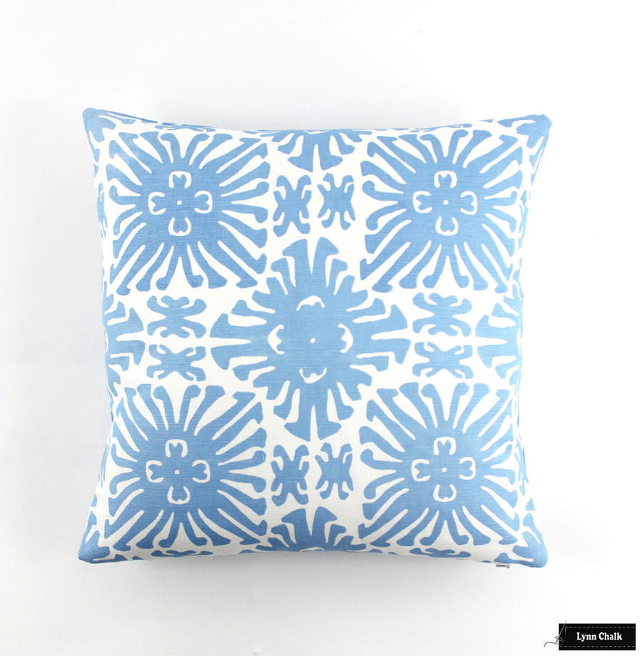Quadrille China Seas Sigourney Reverse Small Scale Fabric French Blue on white 2485 10