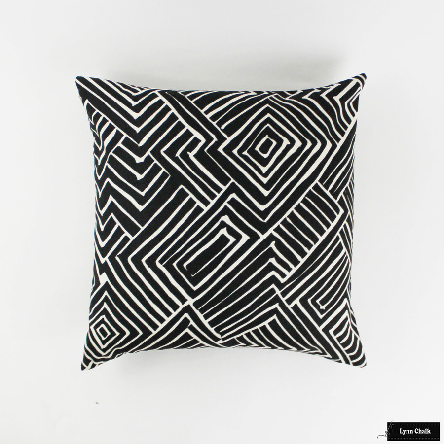 Quadrille Alan Campbell Melinda Pillows (Shown in Black on Tint-comes in other colors)