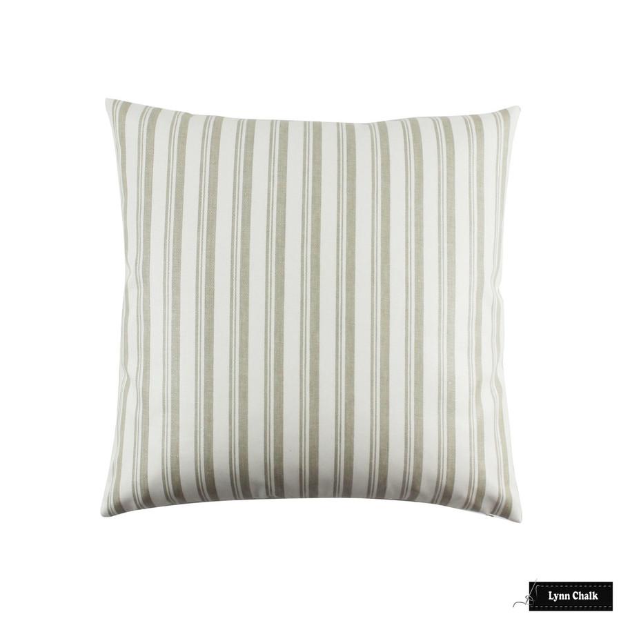 Capri Stripe Pillows in Greige